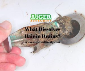 what can you use to dissolve hair in a drain
