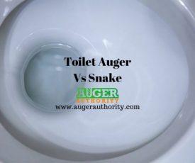 toilet auger vs snake