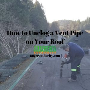 how to unclog vent pipe on roof