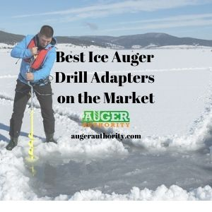 Ice auger drill adapters