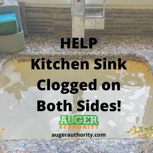 Kitchen sink clogged on both sides