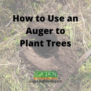 how to use an auger to plant trees